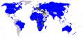Carte des forces en présence, en noir les Empires centraux (Triplice),