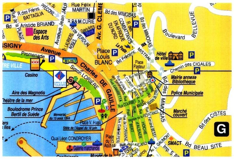 Carte De La Ville De St Tropez