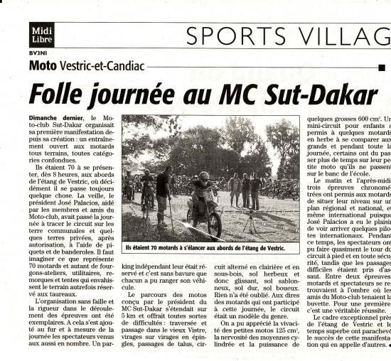 banderollée 21 septembre 2008 MC-SUT-DAKAR
