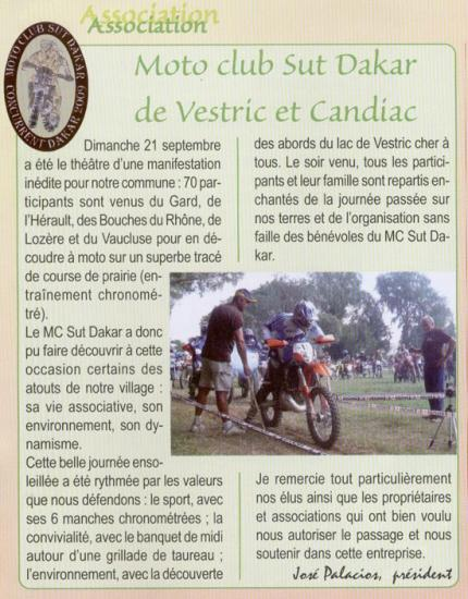 journal de vestric octobre 2008
