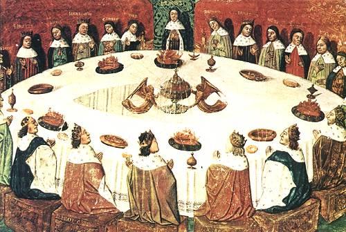 Le roi arthur famille de lumiere de francesca - La table ronde du roi arthur ...