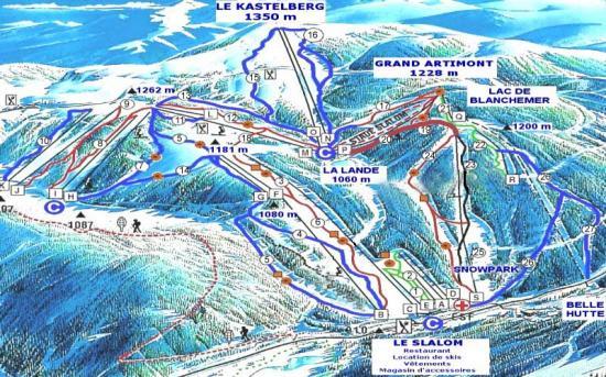 Les différentes stations de ski