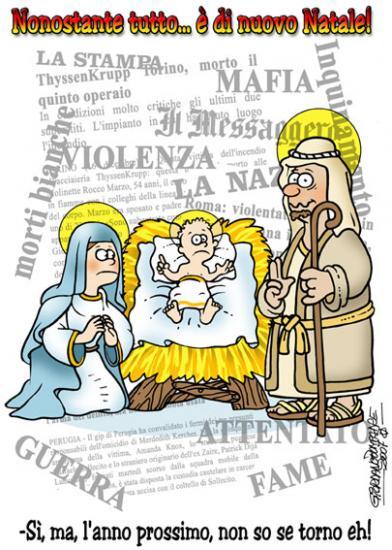 Immagini Natale Umoristiche.Vignette Umoristiche Sulle Feste Di Fine Anno