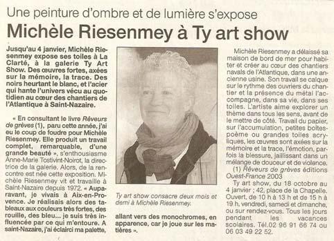 Ouest France - 17 octobre 2003