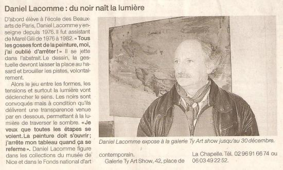 Ouest France - 1er novembre 2007