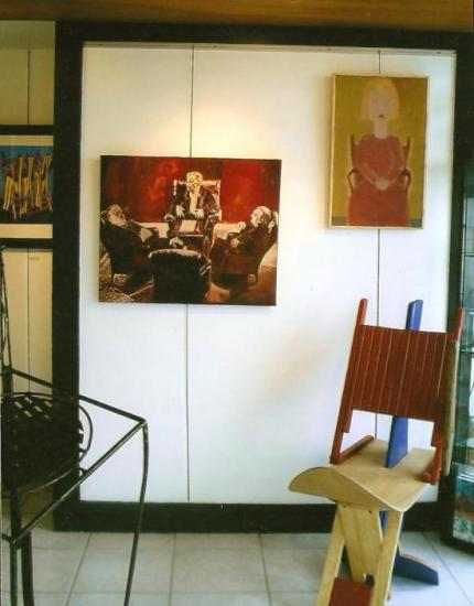 Peintures: A. Le Pape et D. Adam / Chaise: Anne-Marie Le Bayon