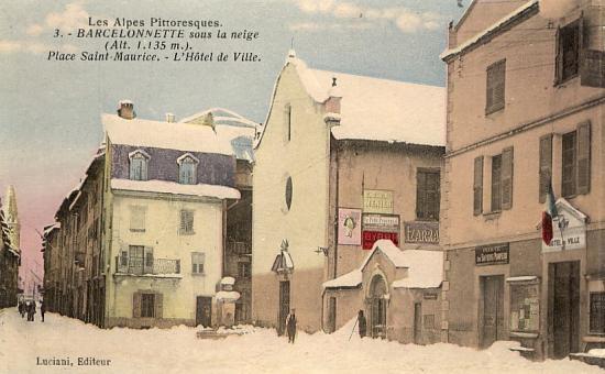 Barcelonnette sous la neige