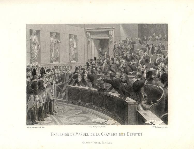 Expulsion de Manuel de la Chambre des Députés