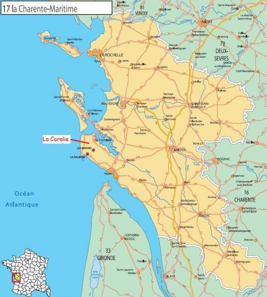 Localisation gite royan charente maritime - Office du tourisme de royan charente maritime ...