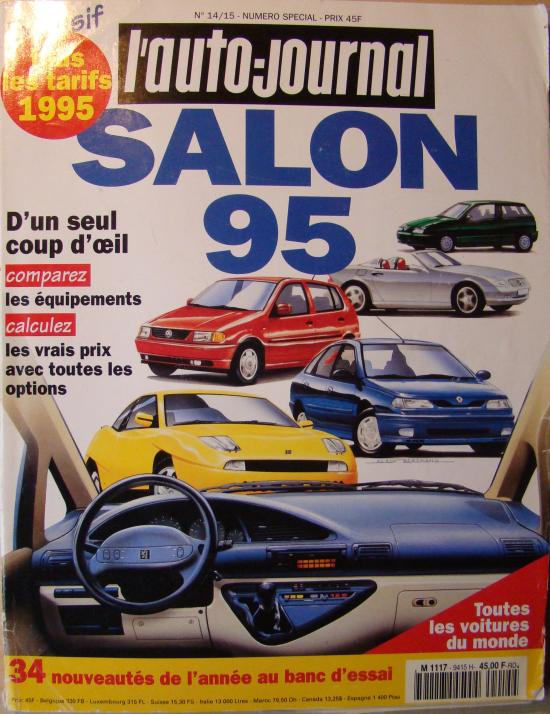 l 39 auto journal hors s rie salon 1995. Black Bedroom Furniture Sets. Home Design Ideas
