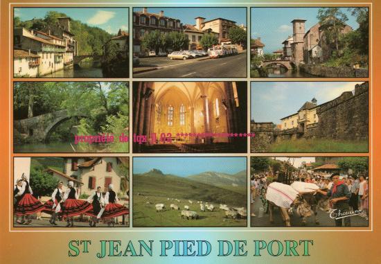 Cartes postales de saint jean pied de port - Saint jean pied de port carte ...