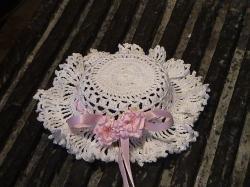 chapeau miniature au crochet