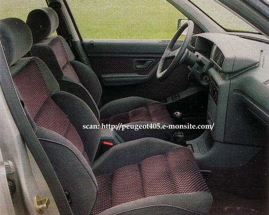 405 mi16 09 1987 07 1995 for Interieur 405