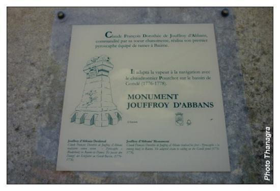 Plaque monument Jouffroy