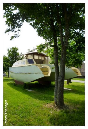 Le bateau en cale sèche