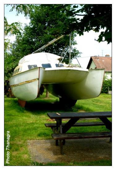 Un bateau en cale sèche