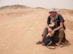 En el desierto de Soudán.