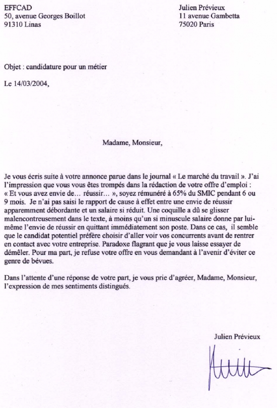 exemple lettre de motivation 6eme bilangue