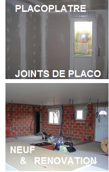 Placoplatre pose cloison placo artisan plaquiste travaux for Joint placo plafond