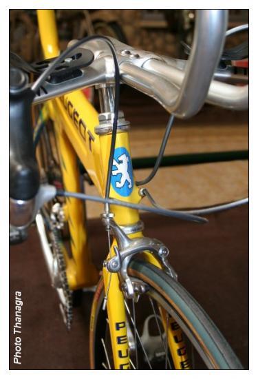 Frein sur un vélo moderne