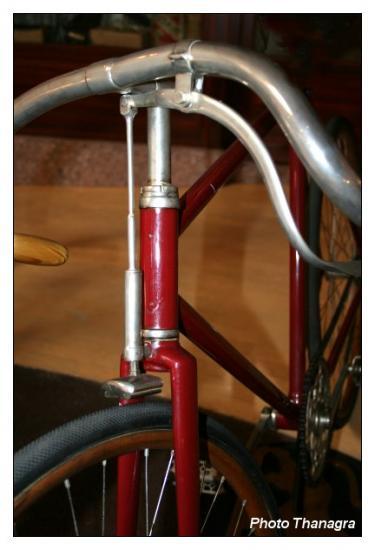 Frein sur un ancien vélo