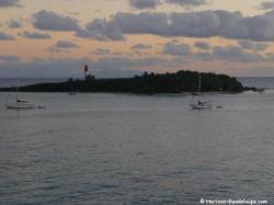 Crépuscule sur l'îlet Gosier