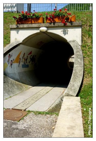 Tunnel sous la voie ferrée