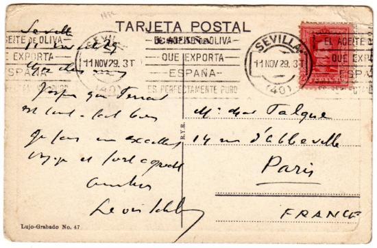 carte postale espagnol