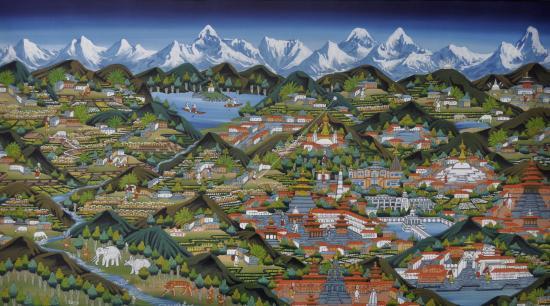 Le Népal (peinture naïve)