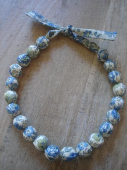 Collier Felicite bleu et vert