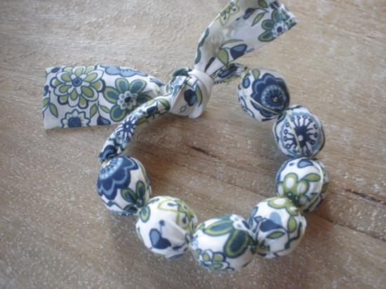 Bracelet Lauren bleu et vert