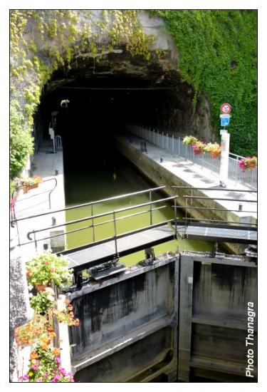 Entrée dans le tunnel de la Citadelle