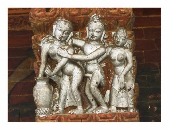 Détail d'un temple à Pashupatinath