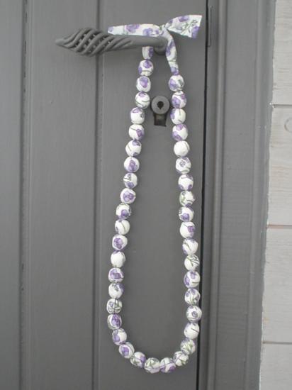 Sautoir Ros violet