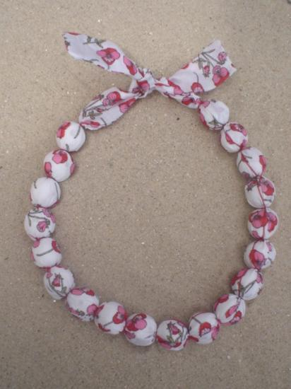 Collier Ros rouge et rose