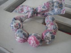 Bracelet Elysian gris et rose