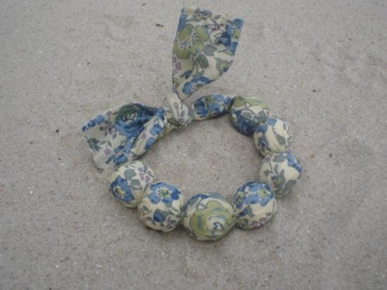 Bracelet Felicite bleu et vert