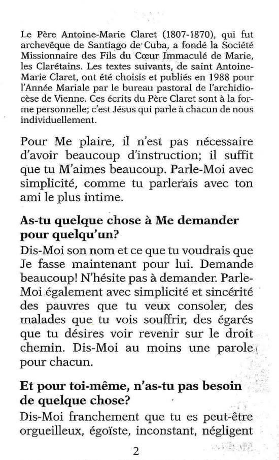 Favori Méditation de Saint Antoine Marie Claret EW12