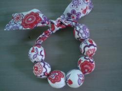 Bracelet Lauren rouge et violet