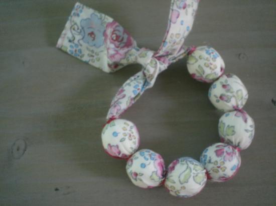Bracelet Felicite Rose et bleu