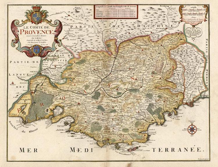 Le comté de Provence 1708