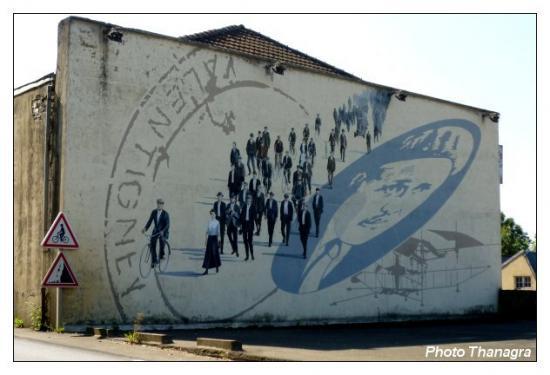 Fresque hommage à Oehmichen