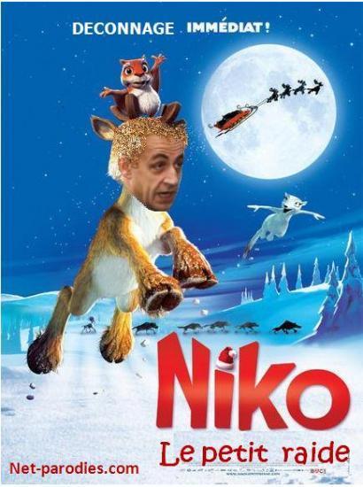 parodie fausse affiche film dessin animé nikko petit renne