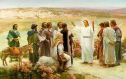 Jésus les emmena jusque vers Béthanie et, levant les mains, il les bénit.