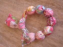 Bracelet mauvey rose