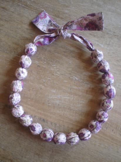 Collier Felicite violet et rose