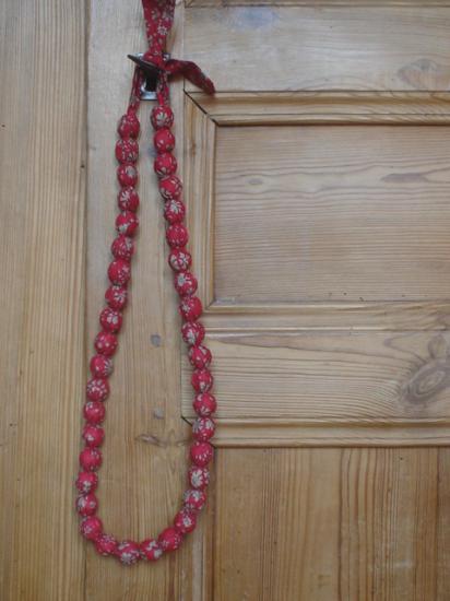 Sautoir Capel rouge