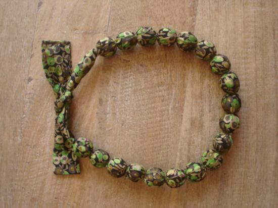 Collier Wiltshire vert et marron