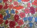 Tissu Poppy and Daisy rouge et bleu
