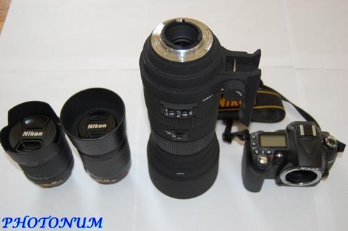 NIKON D90 + OBJECTIFS NIKON + SIGMA 120-400